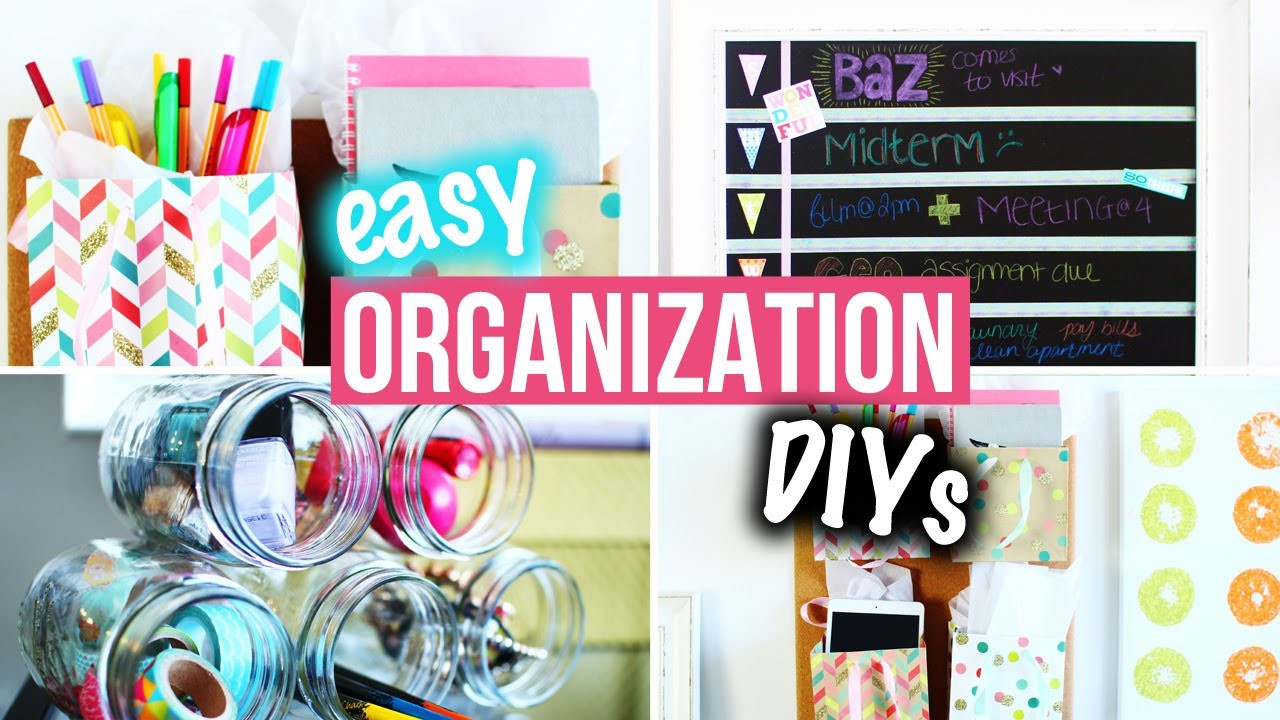 Organization DIYs & Easy Room Decor for Getting Organized! | LaurDIY