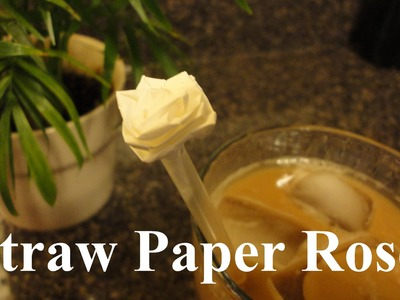 Origami Straw Paper Rose. Flower (Simple Directions)