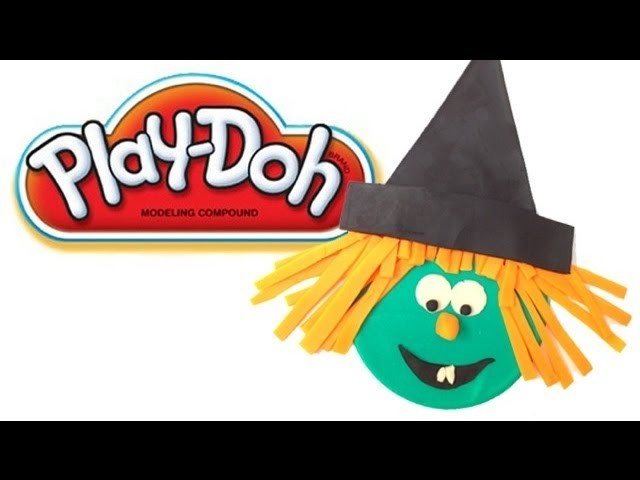 PLAY DOH Halloween Witchs Toy Review How To Make Halloween Witch Face DIY