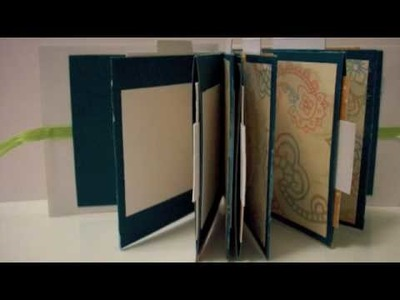 Recycled Hardcover Mini Pocket Scrapbook Album