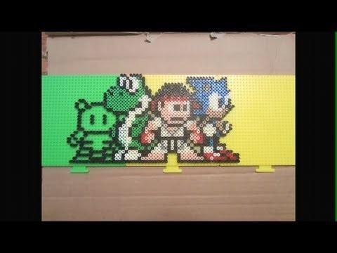 Videogame perler bead art (for Gamester81 and xLovenRagex)