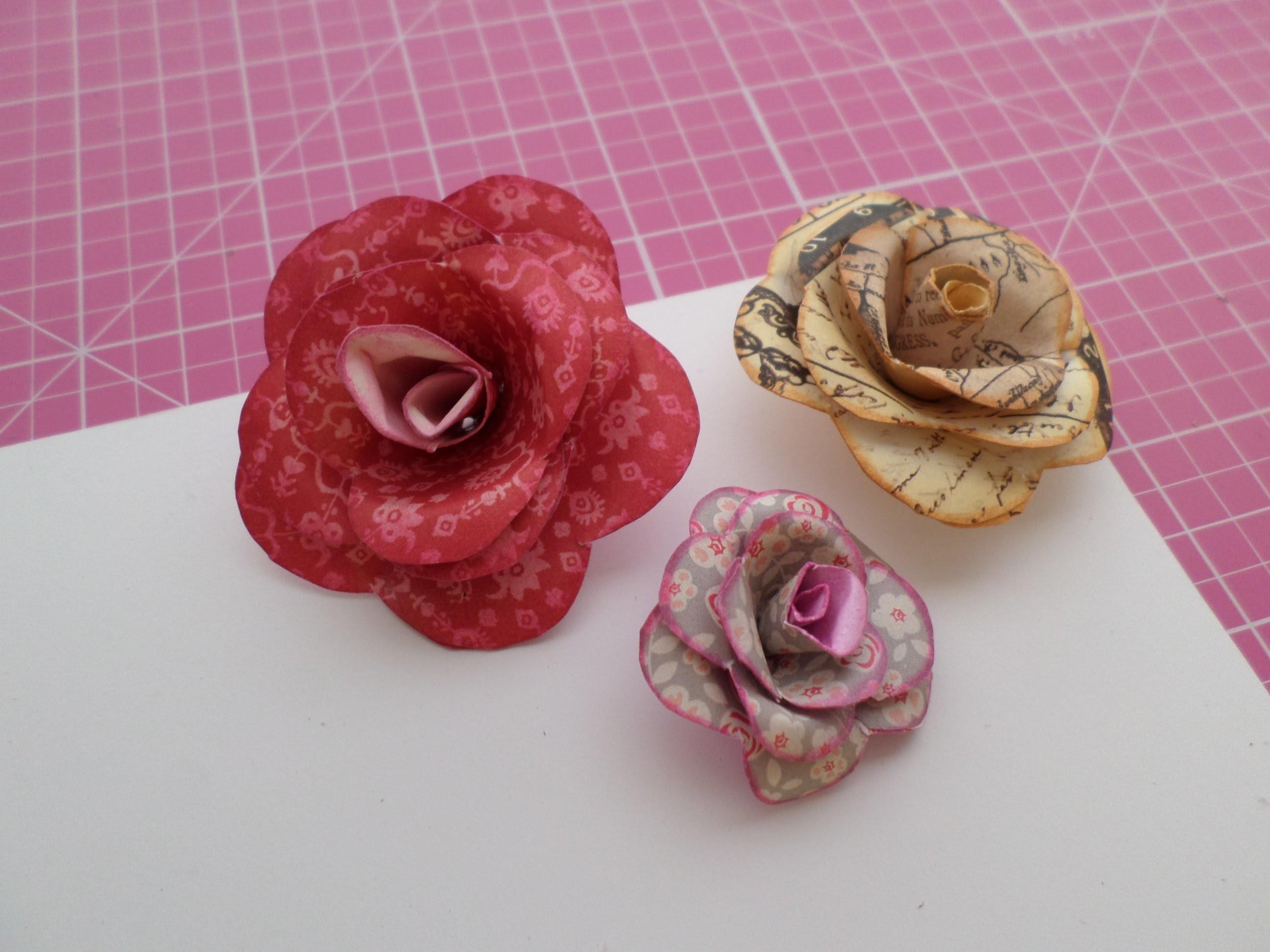 Como hacer flores de papel Scrapbook