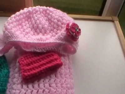Crochet Puff-Stitch Hat & Scarf Set
