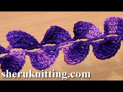 Crochet Ribbon Lace Tape Tutorial 25