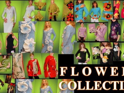 Crocheted and Knitting Flower Collection