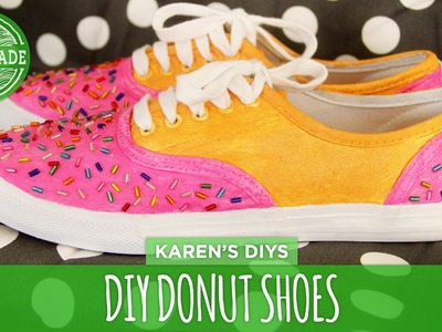 DIY Donut Shoes - White Shoes Challenge Week - HGTV Handmade