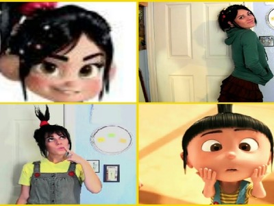 DIY Halloween Costume: Agnes & Vanellope Von Schweetz Hair & Costumes!!! Adorable