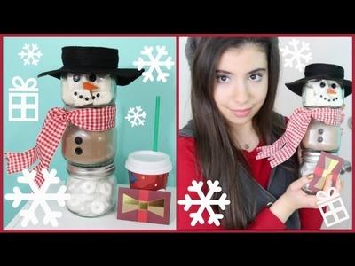 DIY Holiday GIft Idea: Hot Cocoa Snowman Jars!