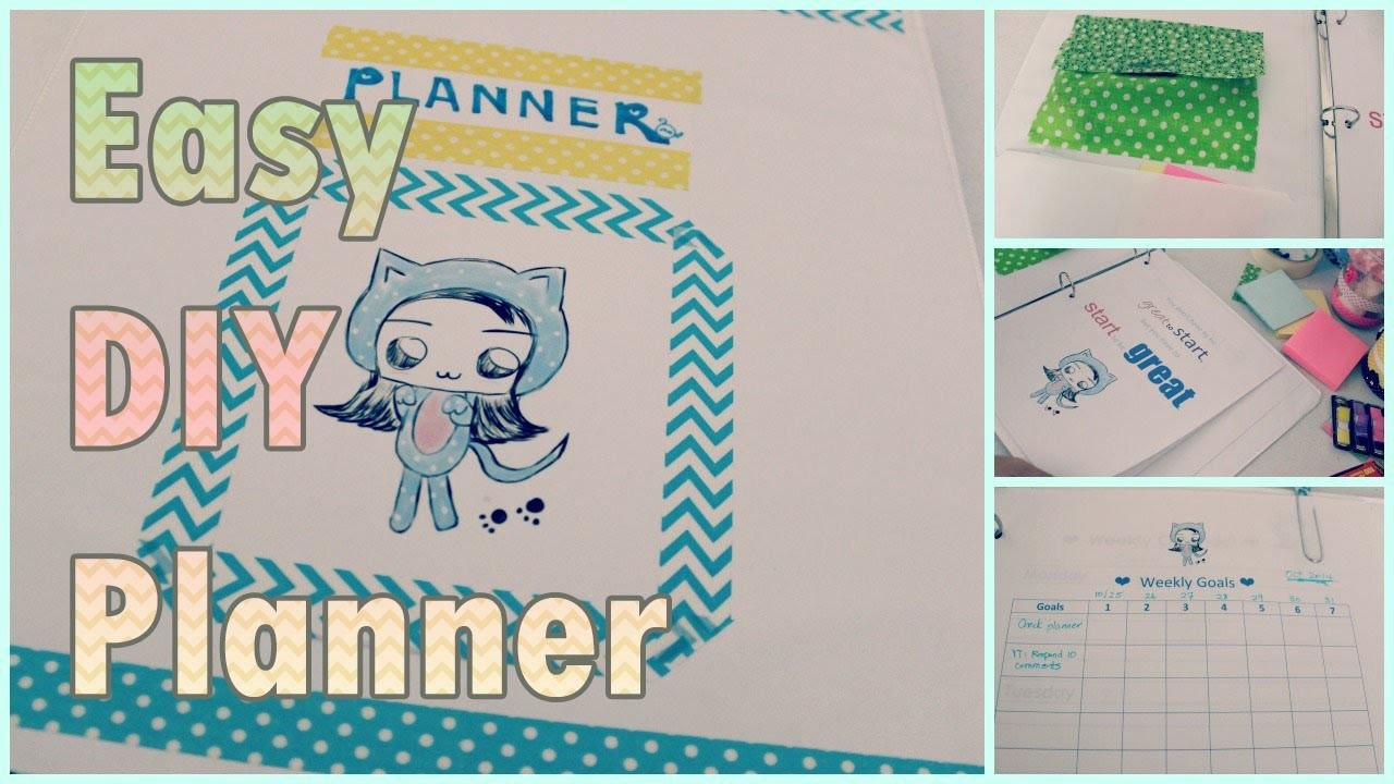 DIY Schedule Planner: Agenda Organizer for Back to School DIY