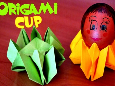 DIY Simple Paper egg cup - Origami Easter - Tutorial