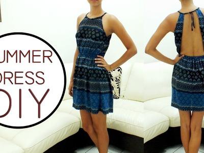 DIY    Vestido con escote en espalda     Backless summer dress