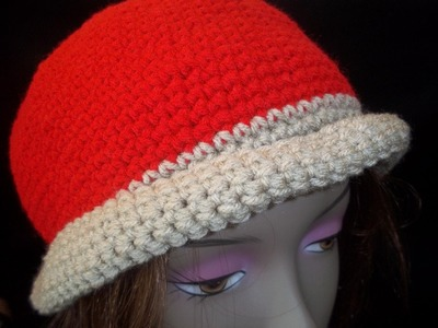 How to Make a Red & Tan Beanie Cap