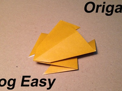How to make an Origami Frog. Easy for Children