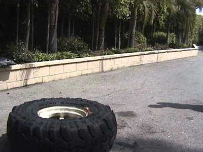 How to mount tires with lighter fluid