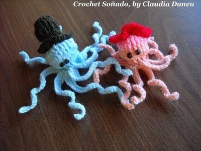 LADY & LORD OCTOPUS OF THE CROCHET SEA. SR  Y SRA  PULPO, DE MA