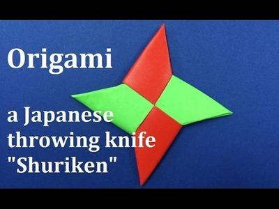 "Ninja Star origami How to make ""SHURIKEN"" of origami (Japanese papercraft). WAHOO"