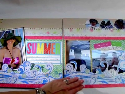 Power Scrapbooking Layouts Video 10: 12x24 Summer & Beach & Circus Layouts