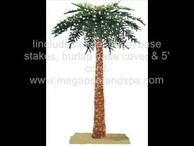 Prelit Tropical Palm Christmas Tree Artificial