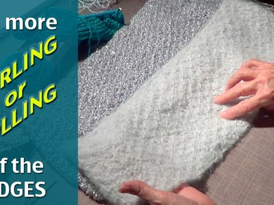Prevent Knit from Curling or Rolling