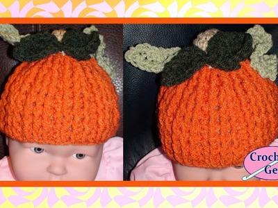 Pumpkin Spice Jr - Child Crochet Pumpkin Hat Crochet Geek