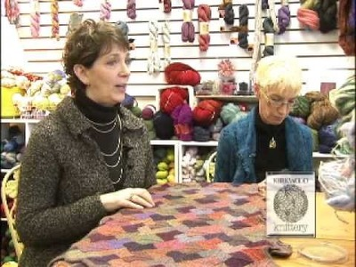 Sit & Knit with Kirkwood Knittery Intro to making a miter square blanket for charity