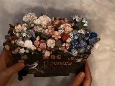 Wild Orchid crafts flower pot display and organizer - Flower pot tutorial on my blog