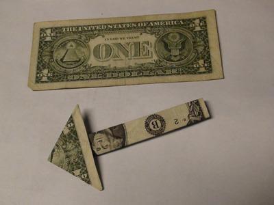 $1 One Dollar Bill Money Arrow Origami - Paper Folding Tutorial - Moneygami Hand Made Arrows Guide