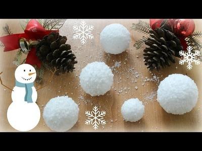 12 DIYs of Christmas : Fake SNOW BALLS