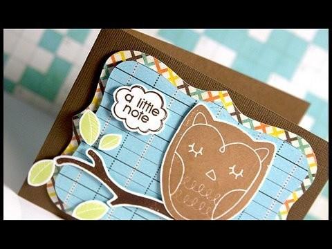 A Little Note (Owl) - Make a Card Monday #69