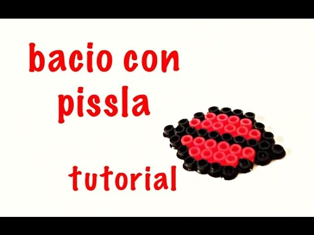 BACIO IN PYSSLA HAMA BEADS KISS TUTORIAL SCHEMA