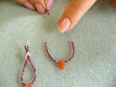Beading Tutorial from Turquoise-StringBeads - How to Make Loop Earrings