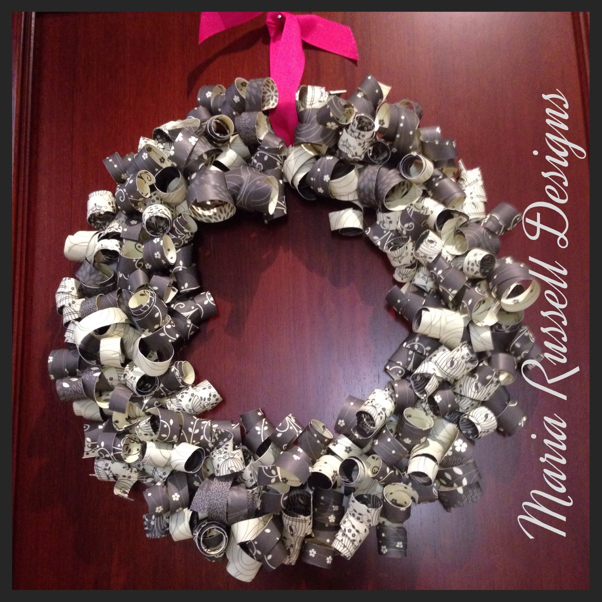 Craft Series - Paper Wreath For Any Occasion