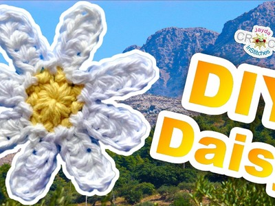 Crochet a Simple Daisy Flower - Beginner Pattern DIY
