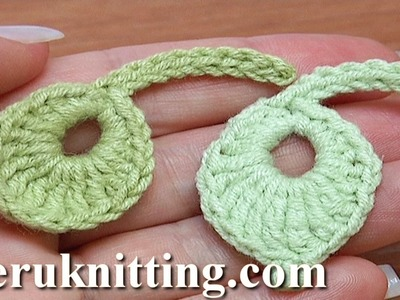 Crochet Little Round Leaf How To Tutorial 8