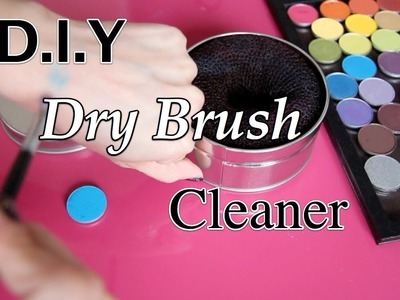 DIY: CHEAP Dry Brush Cleaner - Switch out eyeshadow colors fast -Clean brushes between colors.