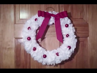 DIY Christmas Plastic Bag Wreath