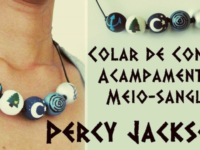 DIY: Colar de Contas Acampamento Meio-Sangue de PERCY JACKSON (PJO Camp Half-Blood Necklace)