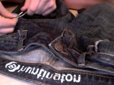 DIY Distressed.Cut Off Jean Shorts