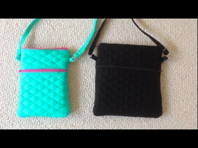 DIY Double Zippered Crossbody