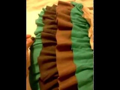 DIY:  ruffle pillow :)