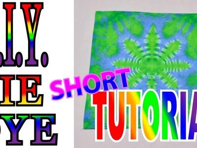 DIY Tie Dye Hemp Leaf [Short Tutorial]
