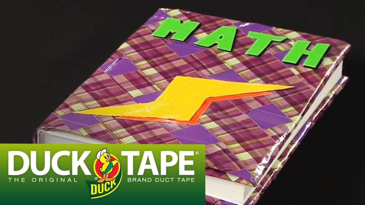 Duck Tape Crafts: How to Make a Book Cover