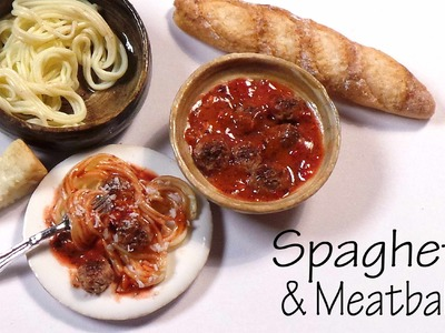 Easy Spaghetti & Meatballs - Polymer Clay Tutorial