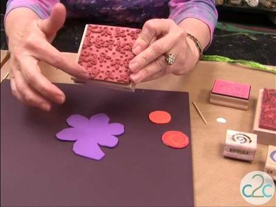 Embossed Craft Foam Flower in Clay Pot featuring Aleene's Fun Craft Foam Glue