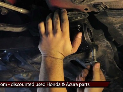 How to change replace install lower control arm DIY 2007 2008 Honda Fit Replacement Tutorial