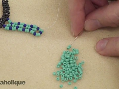 How to Do Vertical Netting Stitch in Bead Weaving