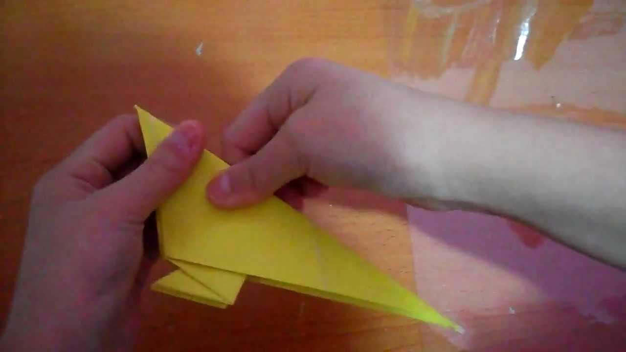 How to fold a SUPER EASY origami bluebird
