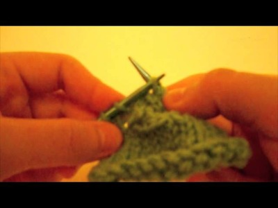How to Knit a Buttonhole