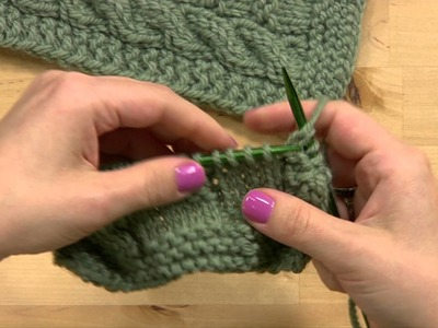 How to Knit a Scarf -- Chutes & Ladders Pattern
