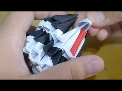 How to make a 3D origami mini panda.
